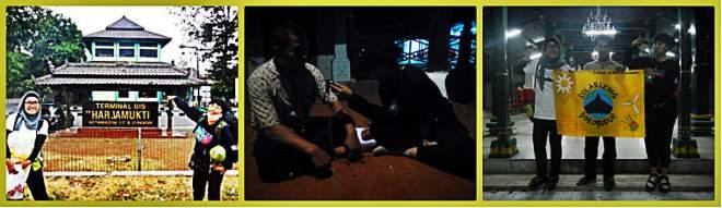 Checkpoint 1 Cirebon, foto bersama Elang Harja, kontak person kami di Kesultanan Kanoman Cirebon(doc by Tides)