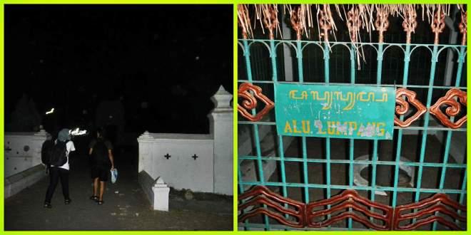 KIKA : Pintu Gerbang Kesultanan Kanoman, Alu Lumpang, benda budaya yang terlihat bersih namun kurang terawat.(doc by Tides)