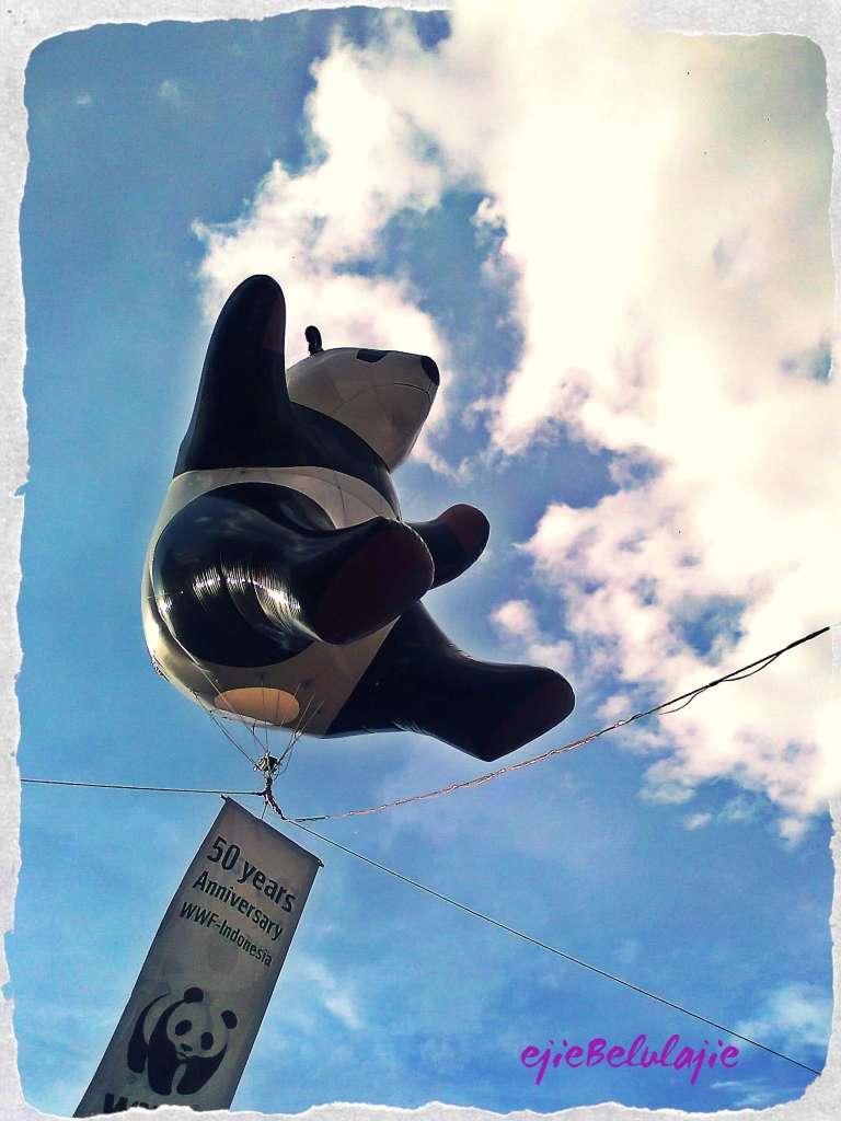 Panda WWF yang melayang di udara(doc pribadi)