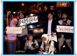 Kendaraan hitching ke-3, toyota avanza, Pak Yuda, eksekutif muda yang menetap di Bogor(doc by BBram)