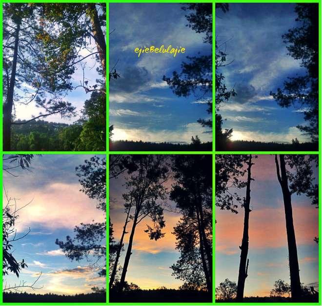 Menanti langit berganti warna, selalu suka warna hatinya :)(doc pribadi/Ongston Obe)