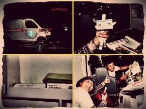 Kendaraan hitching kedua, Ambulance, B1017KIX, tujuan Semanggi-simpang tol Bogor(doc by Hartip)