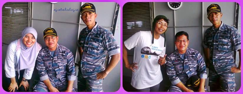 Yippiiiee... sampai di KRI Surabaya 591(doc pribadi)