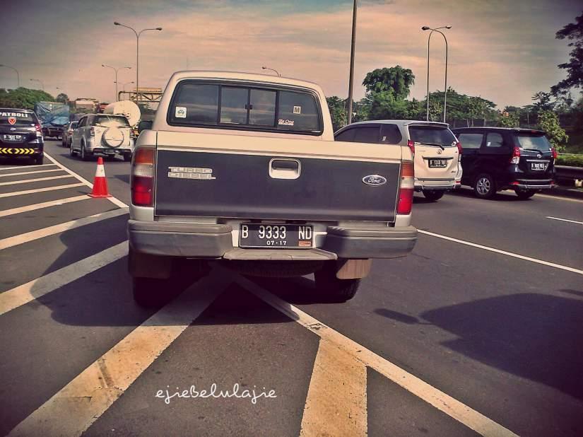 Kendaraan hitching nancep Jakarta langsung(dc pribadi)