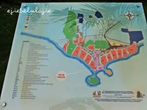 Peta sebelum ke pantai di Nusa Dua, semapt Ejie foto(doc Zela)