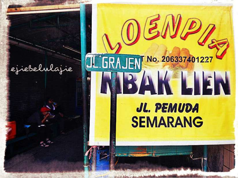 Loenpia Mbak Lien di Semarang(doc Tides photo by Bule)