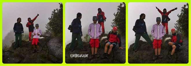 4 personil, keluarga nanjak rombongan lenong berfoto sebelum makan (doc Ricky Merah)