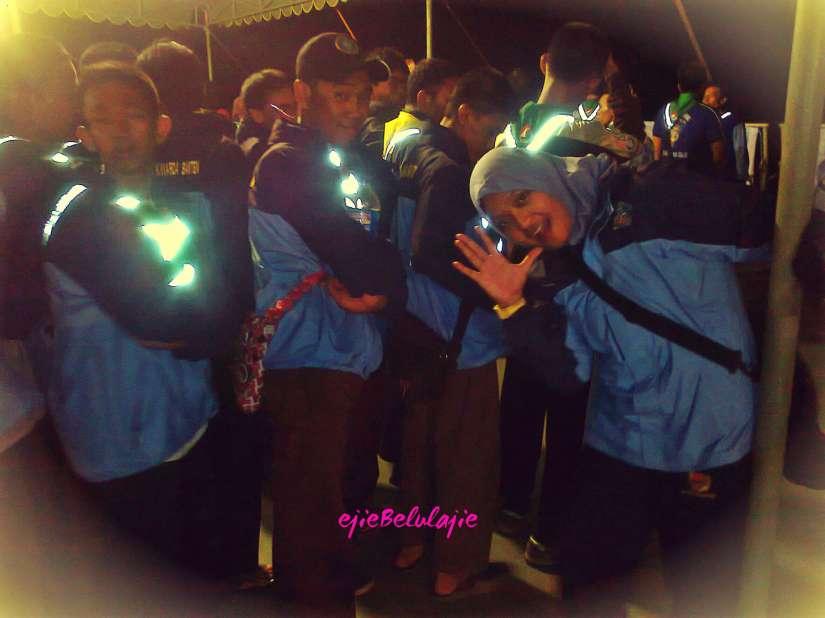 Hari pertama di KRI Surabaya 591, peserta Pelantara II saat apel kelengkapan.(doc pribadi)