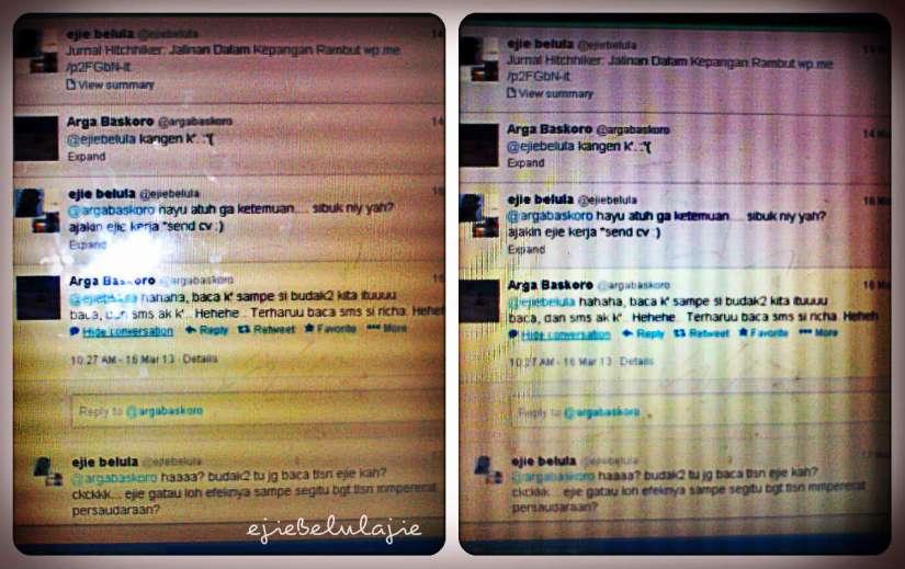 Isi twit Arga yang kuintip(doc pribadi)