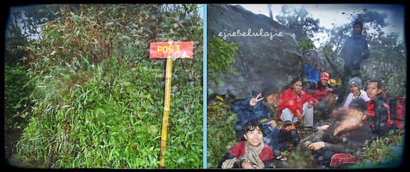 Kiri: Pos 1 setelah jalur Kartini-Kartono. Kanan: Di belakang batu besar adalah jalur Kartono. (doc pribadi)
