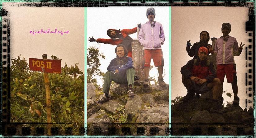 Foto bersama di tugu pos 2, bergantian. (doc pribadi/Ricky Merah)