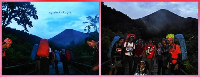 Teman-teman yang sudah ngebut di depan, berfoto di jembatan. ciamik dah semua :D (doc Teguh Abi dan Irwansyah)