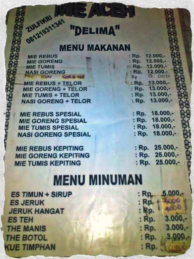 The menu (doc pribadi)