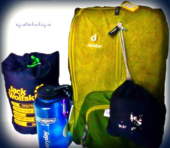 Green box daypack, mengiringi langkah hitchhikingku ke tanah Jawa Tengah. (doc pribadi)