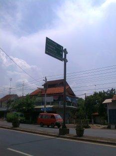 Awal langkah, perempatan lampu merah, beberapa meter setelah Pasar Batang. (doc pribadi)