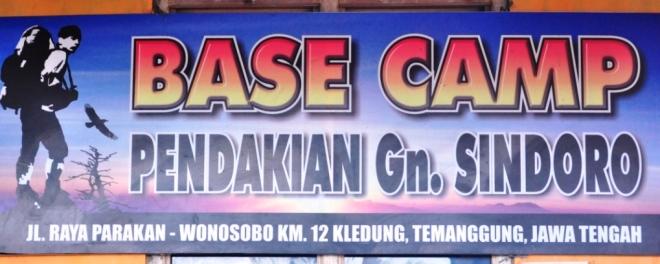 Plang basecamp Sindoro (doc pribadi)