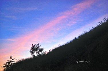Senja masih dengan langit birunya (doc pribadi)