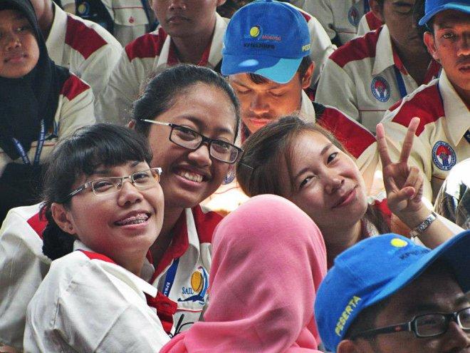 Aku, Dayu dan Rainy saat event Sail Morotai 2012 lalu. (doc Ka Agus)