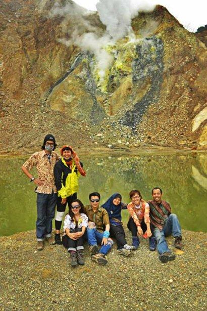 Telaga Hijau Gunung Papandayan (doc Tata)