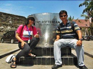 Kapten Wendi and me - Benteng Fort Rotterdam, Makassar. (doc Kak Agus)