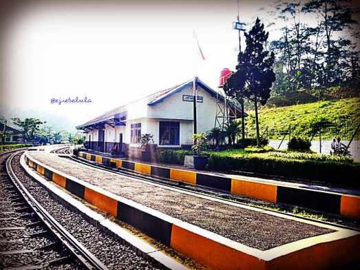 Stasiun Lampegan diambil dari arah rel terowongan (doc pribadi)