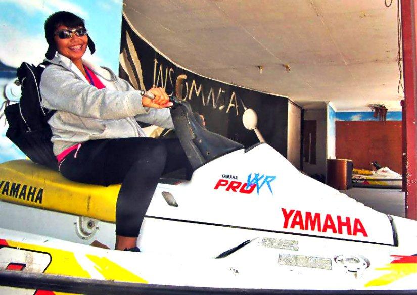 Olahraga dan wisata jetski yang ada di Pulau Khayangan. (taken by Zela, doc Zela)