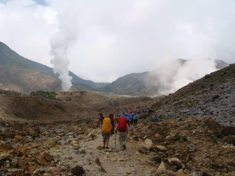 View of Mount Papandayan (doc Cristina Cruz, AirAsia crew)