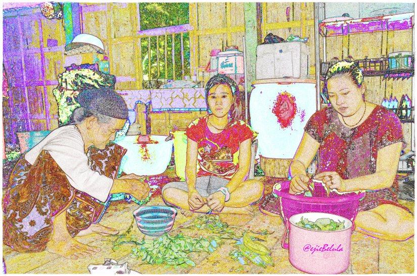 Kiri-kanan: Nenek, Hikma dan Kak Tina (doc pribadi)