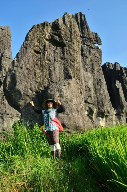 Hutan Batu Karst, Desa Salenrang, Rammang-rammang, Makassar, Sulawesi Selatan. (doc pribadi, taken by Fitri Daeng Beta)