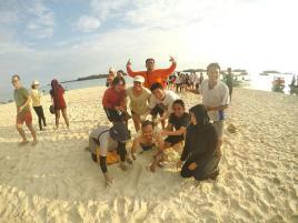 Kerukin pasir Perak buat Nowo. (doc Indri)