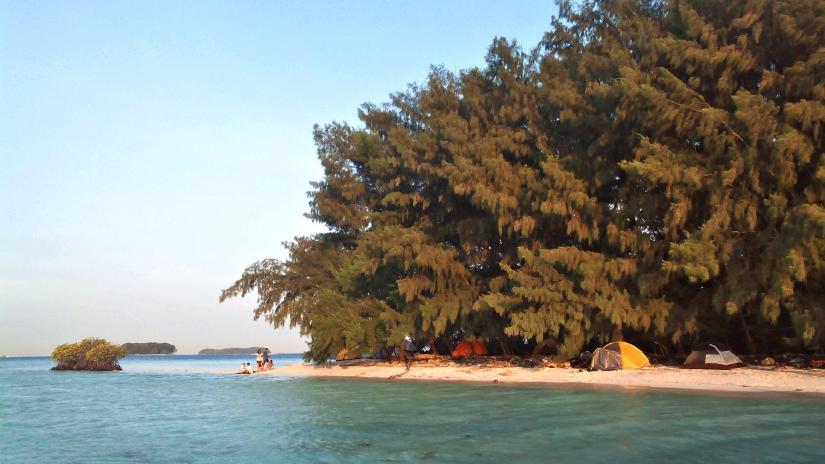 Pulau Dolphin sisi mangrove. (doc pribadi)
