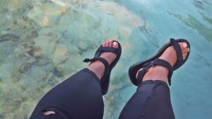 Air Pulau Dolphin yang bening. (doc pribadi)