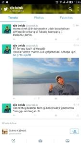 Tq @munindohoy :) ejie sudah numpang gaya di @WegoID as traveler of the month Juli (doc pribadi)