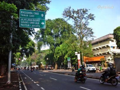 Jalan di depan Taman Lansia. (doc pribadi)