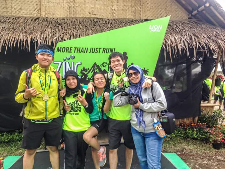 Trail run stage for take a picture. (doc Doni Tianto)