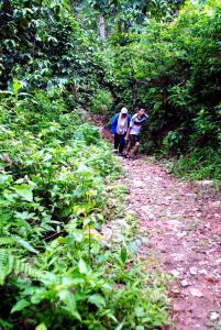 Setelah melewati saung reyot (doc and taken Aditya Dede)