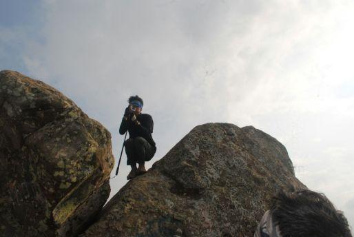 Wahyu, si potographer gopro dari Batu Tumpuk. (doc ALief Ridwan)