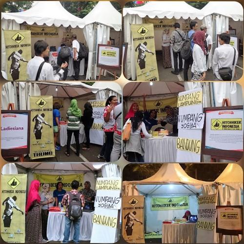 Booth Hitchhiker Indonesia, Kompasianival 2015 (doc Titin Edriati)