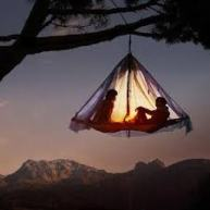 Hanging on tent hammock Credit to Google.com