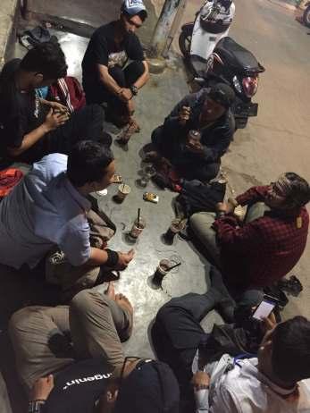 HI DKI yang bertandang ke gerobak cokelat Depil. Doc by Depil