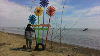 Salah satu spot foto Pulau Cemara. Doc ibu Siti Mualimah