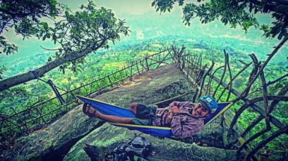 Tempat Dinda pernah menggantung hammock. Doc Dinda