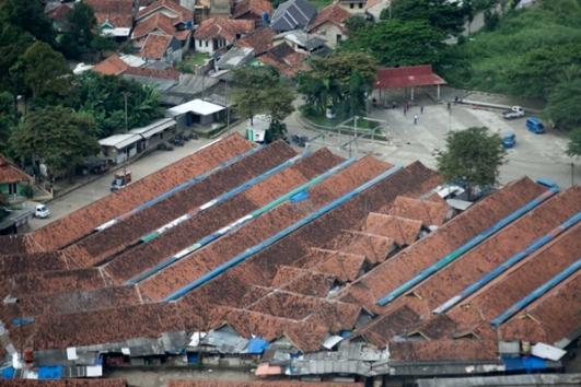 Jajaran atap terlihat dari atas. Doc Muntaha