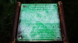 Legenda Goa Jaran yang tertulis di papan keterangan. Sumber Google.