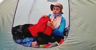 Tes UQ dalam hammock, tali serutan. Doc @wan_qwong