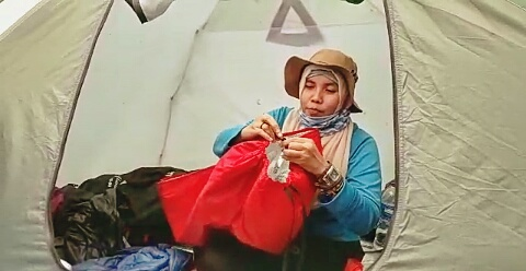 Tes UQ dalam hammock, stopper UQ. Doc @wan_qwong